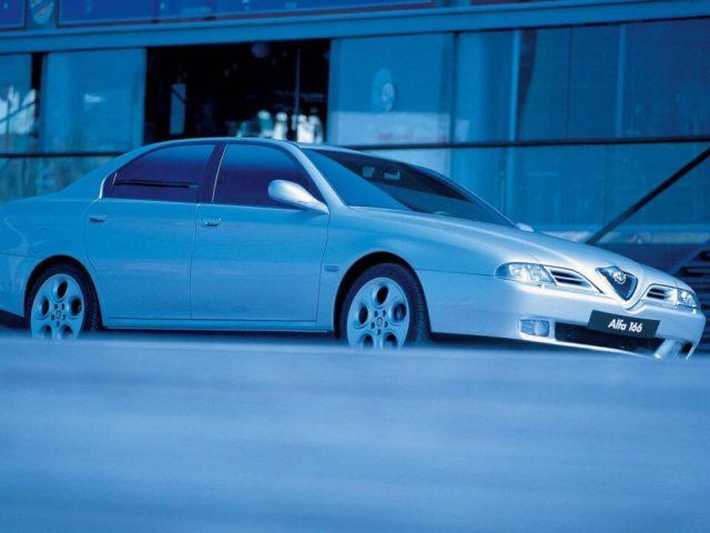 White color beautiful Alfa Romeo 166 Car