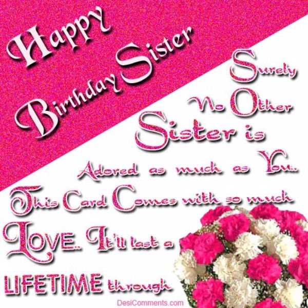 Wish You A Very Happy Birthday Sister Your All Dreams Come True