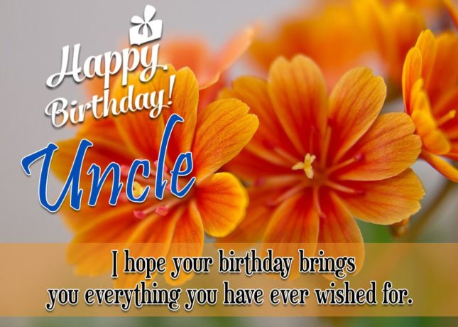Wish You A Very Happy Birthday Message For Uncle Image