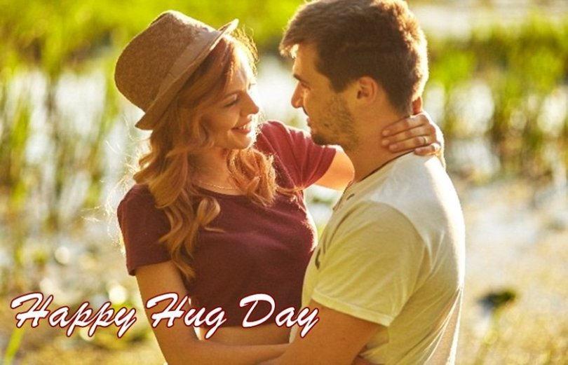 Wish You A Very Happy Hug Day Greeting Image