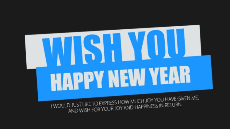 Wish You Happy New Year Message Image