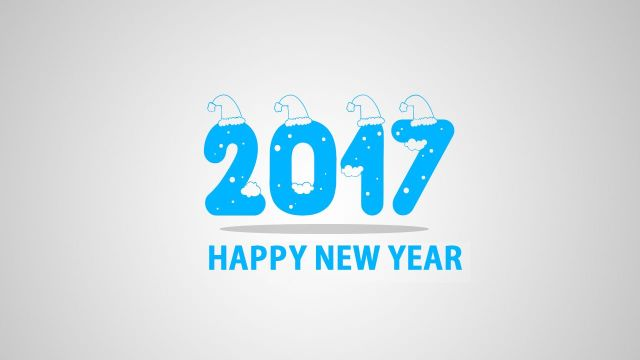 Wish You To A Very Happy New Year 2017 Greetings Image