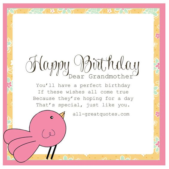 Wishes All Come True Happy Birthday Dear Grandmother Greeting Quotes Image