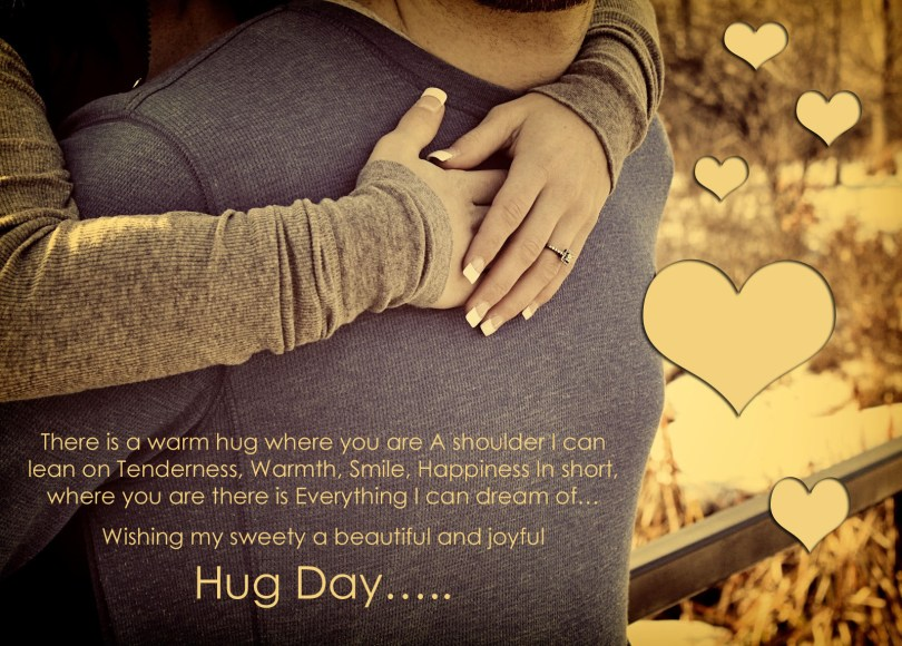 Wishing My Sweety A Beautiful And Joy Hug Day