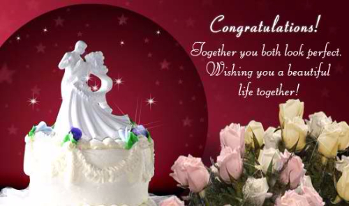 Wishing You A Beautiful Life Together Greeting Image