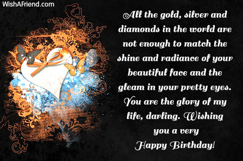 Wishing You A Very Happy Birthday Darling Greeting Image