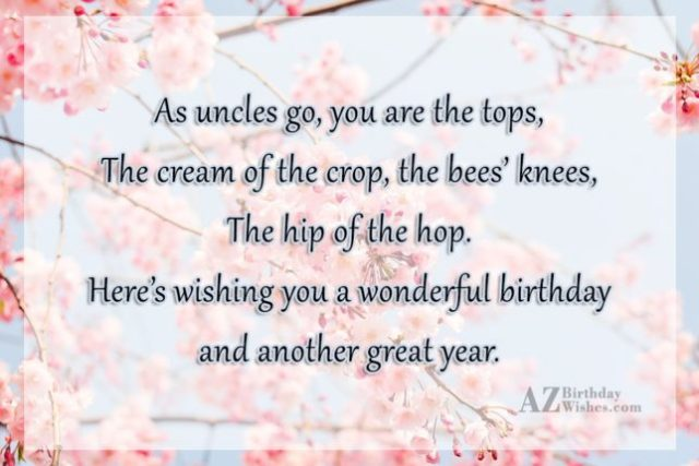 Wishing You A Wonderful Birthday And Another Great Year Greetings
