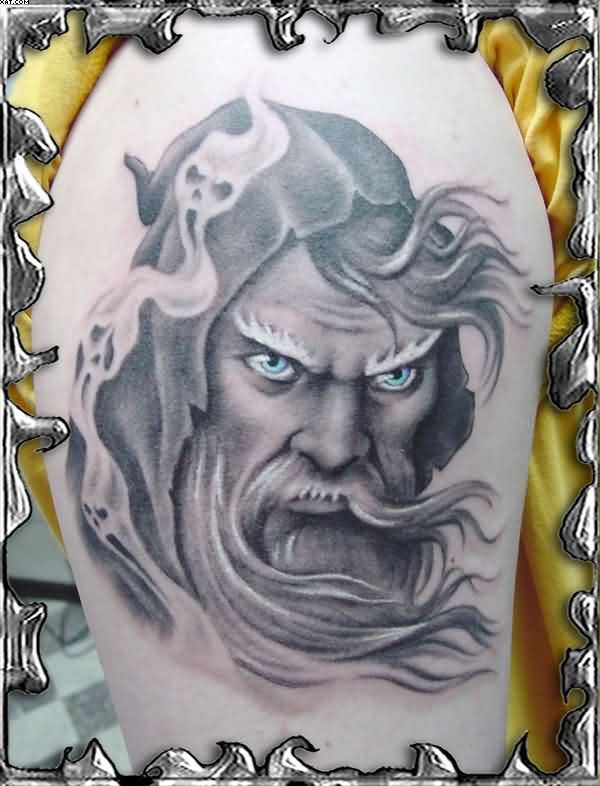 Wizard Tattoos In Anger Design Sample