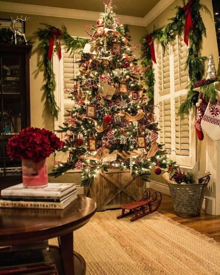 Wonderful Christmas Tree Decorated For Christmas Eve