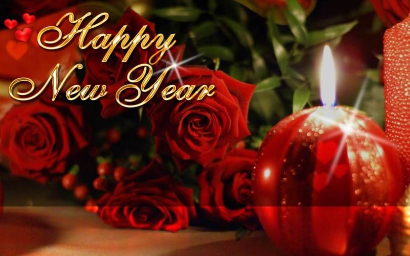 Wonderful Flower Happy New Year Wishes Image