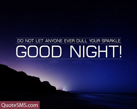 Wonderful Good Night Message Image