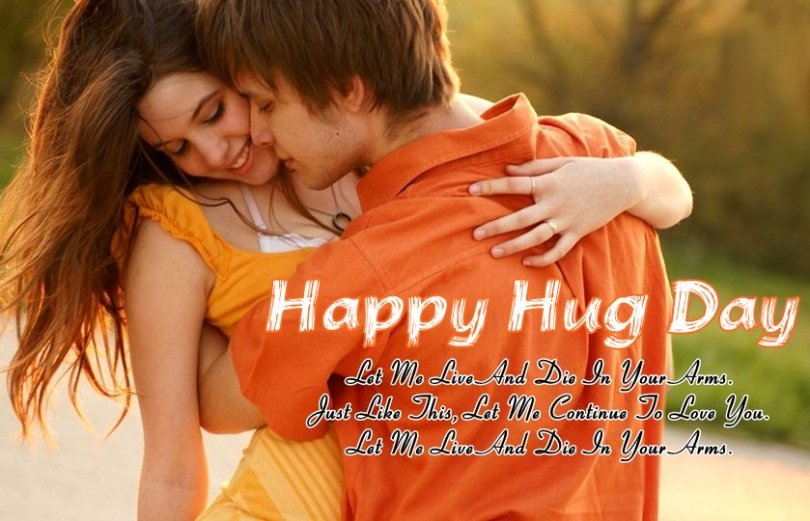 Wonderful Hug Day Quotes For Girlfriend Image