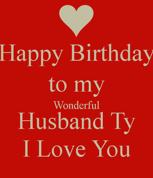 Wonderful Husband Happy Birthday Wishes Image