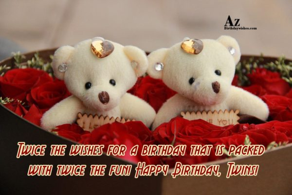 Wonderful Twins Birthday Wishes Message Image