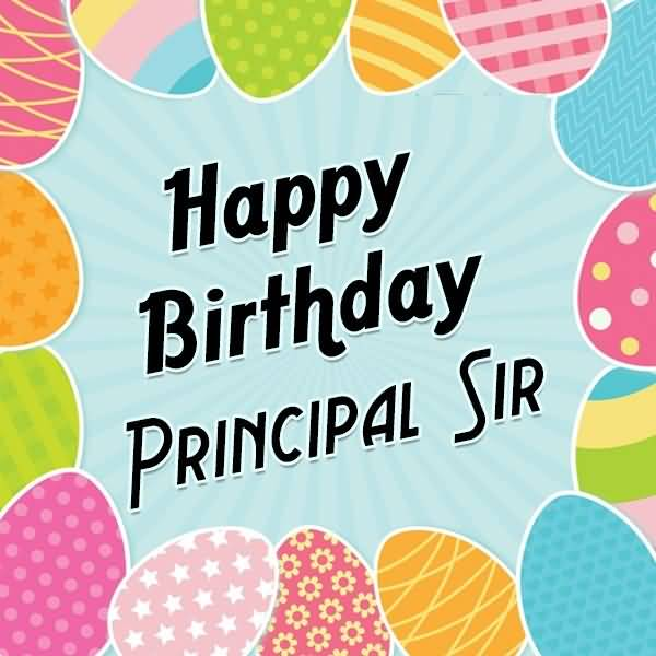Wonderful Wishes Happy Birthday Principal Sir Greeting Image