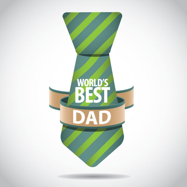 World''s Best Dad Happy Father's Day Tie Image