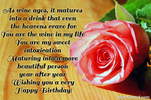 You Are My Sweet Intoxication Wishing You A Very Happy Birthday Wife Greetings Image
