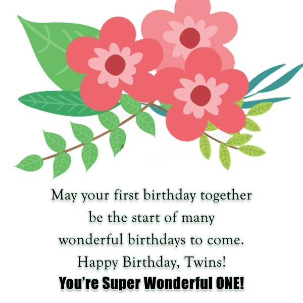 You Are Super Wonderful One Happy Birthday Both Wishes Image