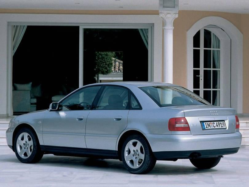 beautiful silver Audi A4 Older car