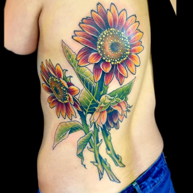 most cutest back tattoo with black ink for man and woman (2)