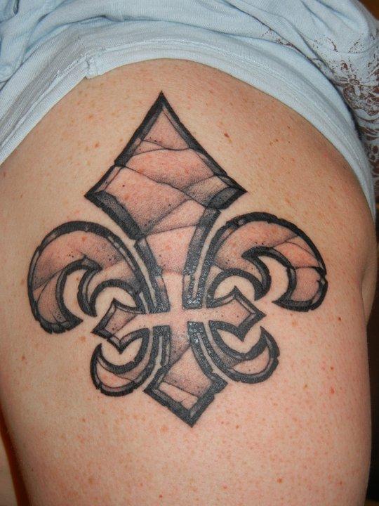 Adorable Fleur De Lis Tattoo Image For Boys