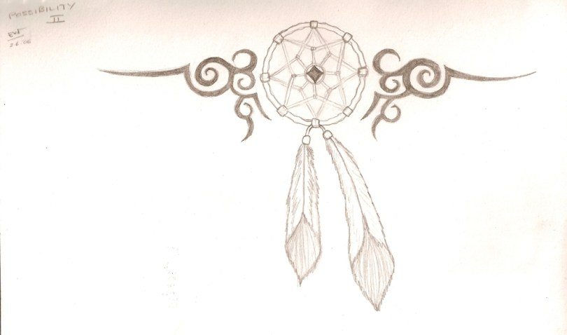 Awesome Dream Catcher Tattoo Design For Girls
