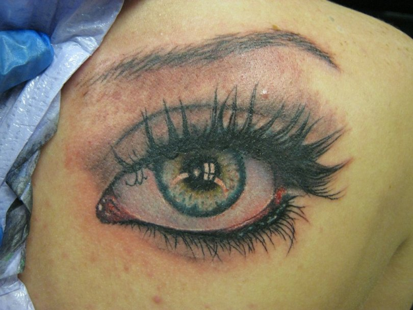 Awesome Eye Tattoo Design For Girls