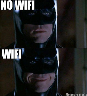 Batman Memes No Wifi Graphics