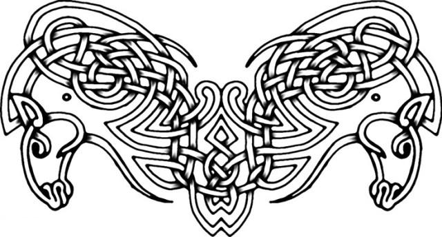 Beautiful Celtic Horses Tattoo Design For Girls