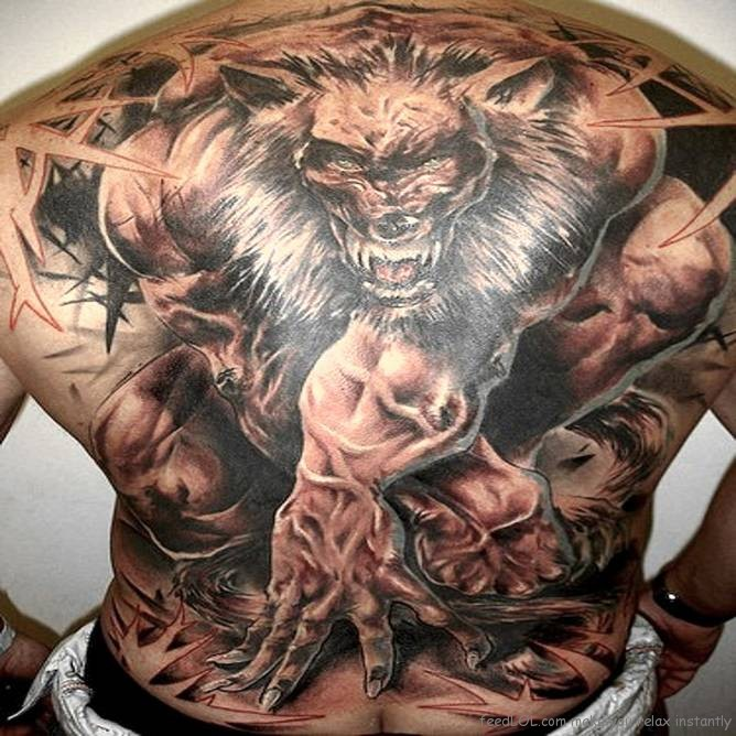 Beautiful Full Back Body Tattoo Design For Boys