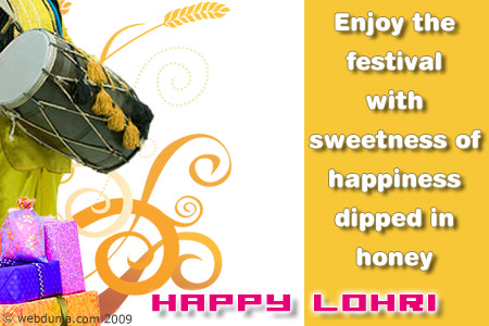 Beautiful Happy Lohri Wishes Message Image