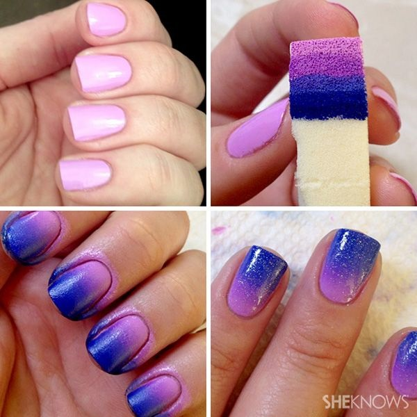 Best Blue Nail With Shading Design