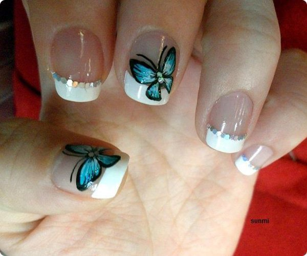 Best Butterfly Nail With White Tip