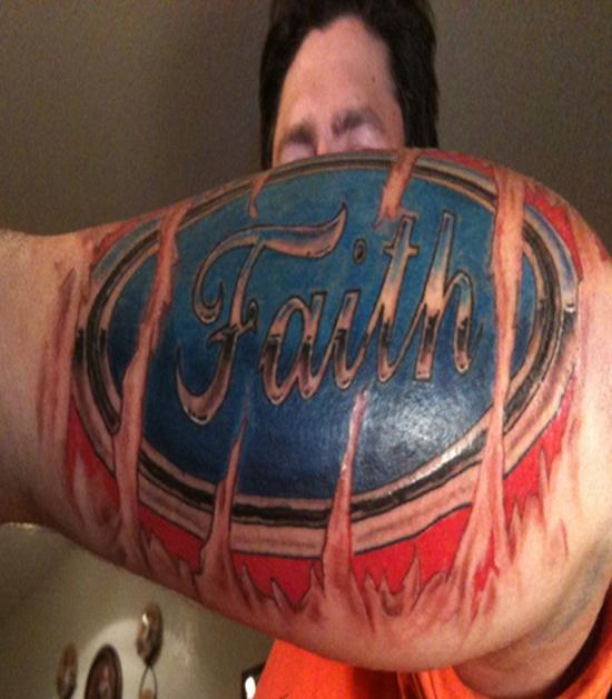 Best Ever Faith Tattoo Design For Boys