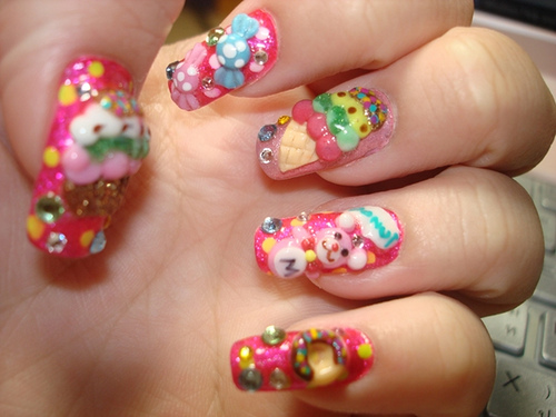 Best Ever Teddy Bear Nail Art 3D Nail Art