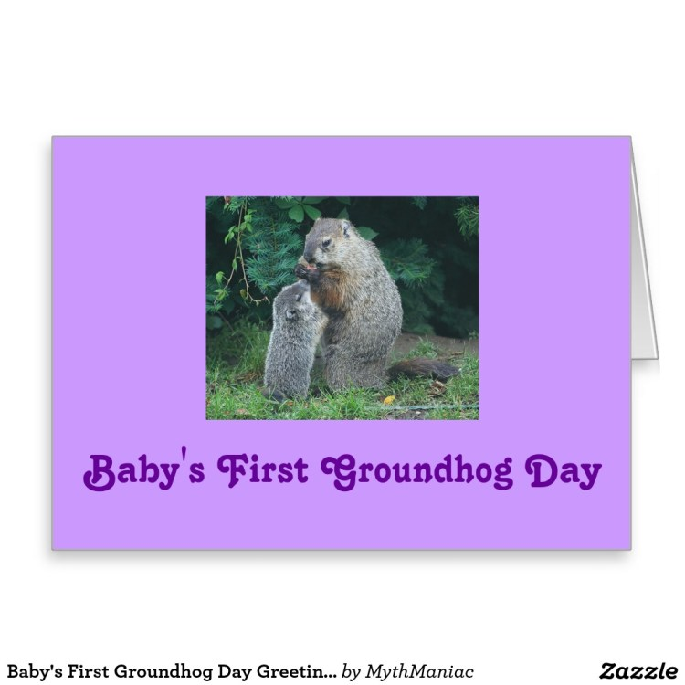 Best Happy Groundhog Day Greetings Card