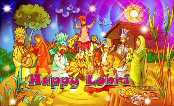 Best Happy Lohri Greetings Picture For Friends