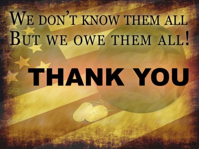 Best Memorial Day Thank You Quotes Image