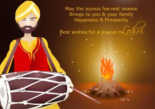 Best Wishes For Joyous Happy Lohri Wishes Image