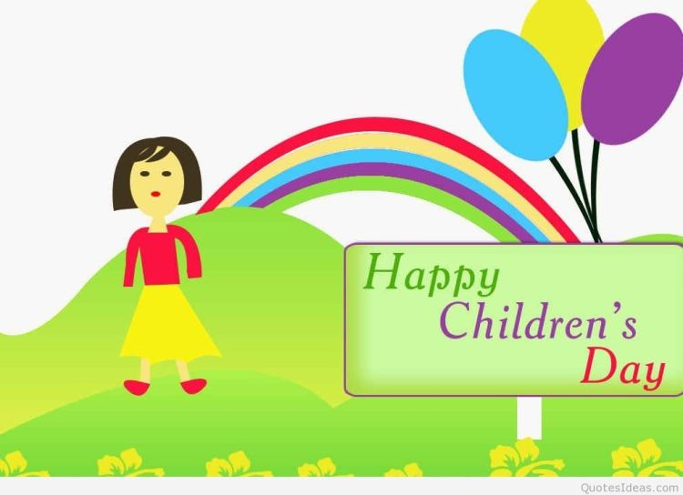Best Wishes Happy Children's Day Greetings Image