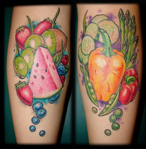 Brilliant Mouthwatering Fruit Tattoo Design For Girls