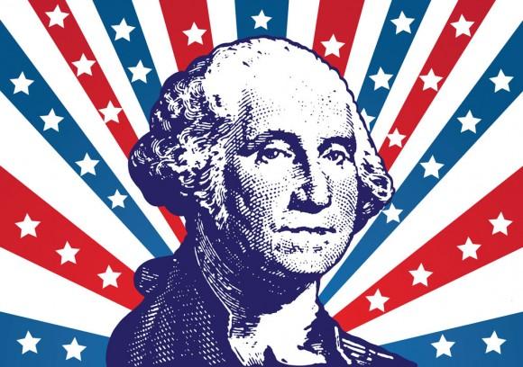 Celebration Of Washington's Birthday Wishes Image