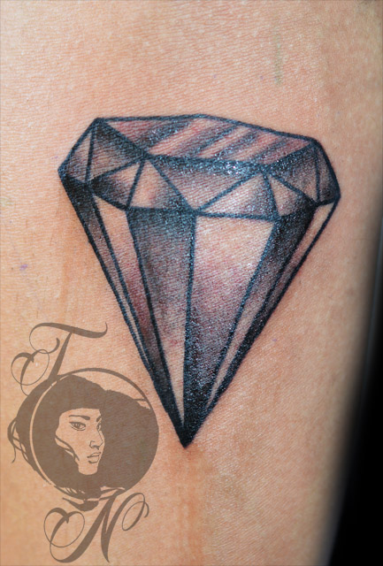 Charming Diamond Tattoo Design For Girls