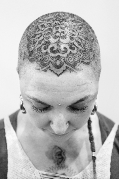 Cool Head Tattoo Art For Girls