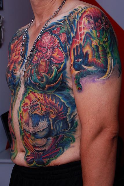 Coolest Elephant Tattoo On Shoulder For Boys
