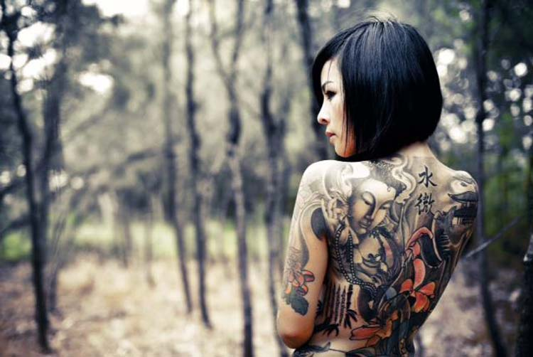 Coolest Full Body Tattoo Design For Girls