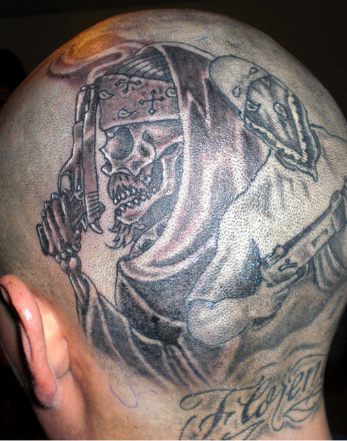 Coolest Gangsta Tattoo For Tough For Boys