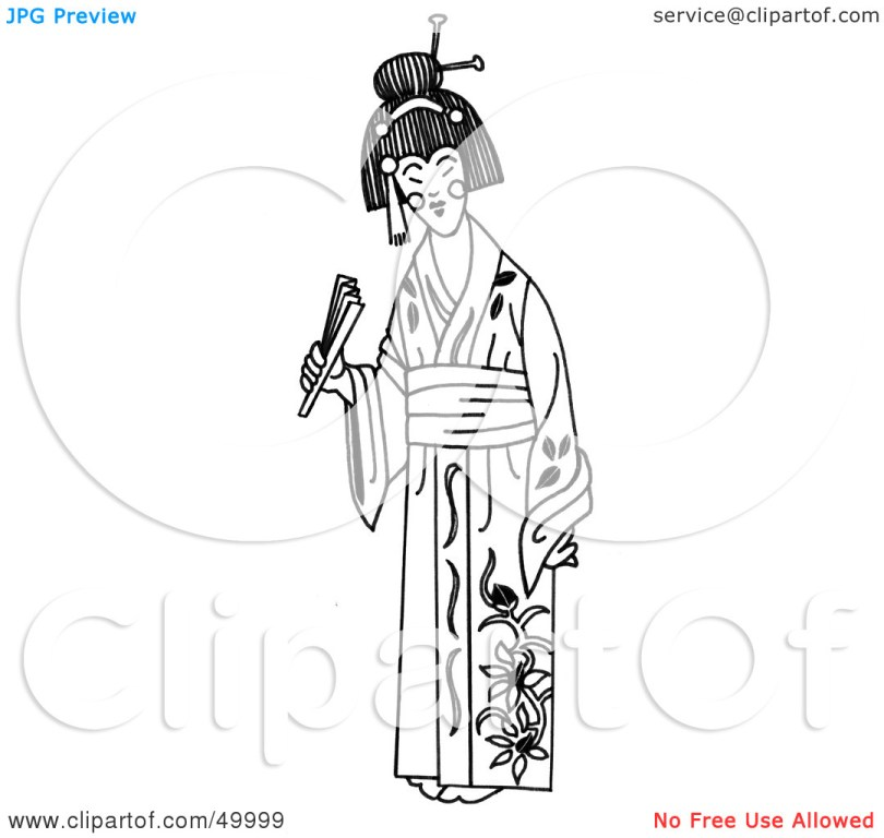 Coolest Geisha Tattoo Clip Art For Boys
