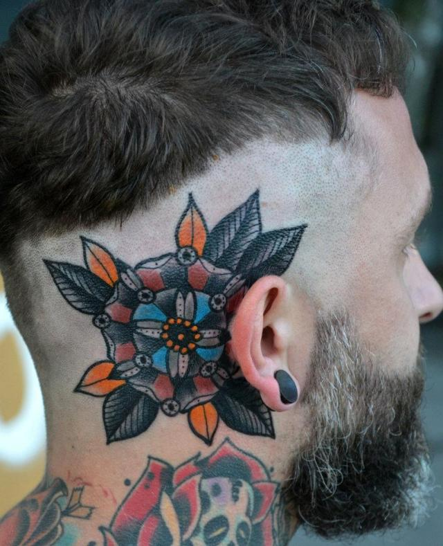 Coolest Head Tattoo Design For Boys