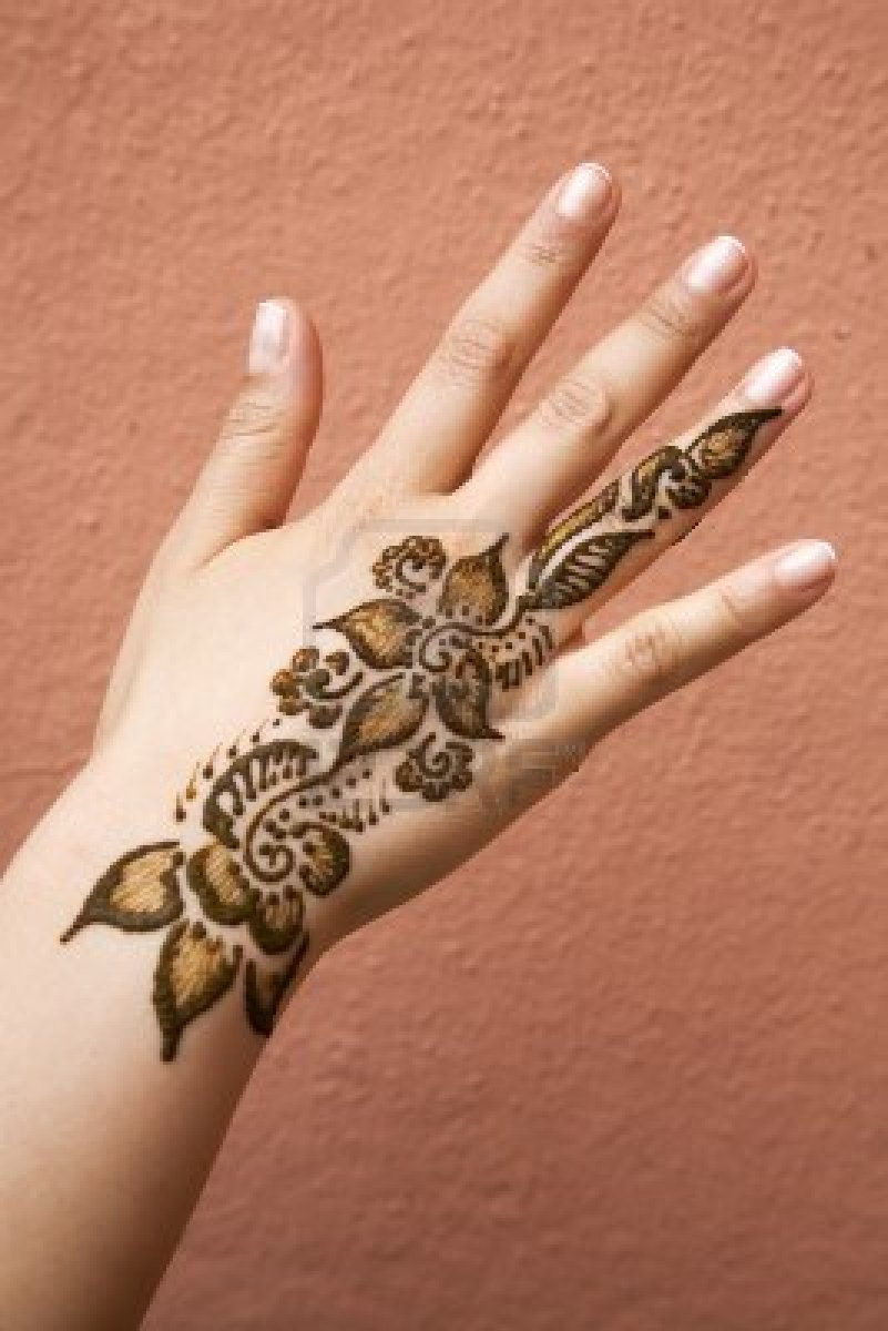 Coolest Henna Hand Tattoo Picture For Girls